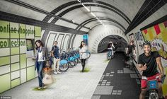 Could London cyclists use abandoned tube lines instead of roads? New designs look at turning the tunnels into super fast cycle paths