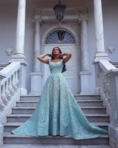 "Ahmad Younes Photography pe Instagram: ""Dream with love💙 The beautiful @noorzhajj in @kachmarreem dress @justyh_makeup @assaadhairdesign #ahmadyounesphotography"" Lovely Dresses, Elegant Dresses, Formal Dresses, Wedding Dresses, Amazing Dresses, Fancy Dress, Strapless Dress Formal, Dress Outfits, Fashion Outfits"