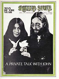John Lennon Yoko Ono on the cover of Rolling Stone Magazine. Rolling Stones, Like A Rolling Stone, Rolling Stone Magazine Cover, John Lennon Yoko Ono, Billboard Magazine, We Will Rock You, Popular Music, Paul Mccartney, Breakup