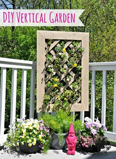 DIY Vertical Garden Tutorial #digin #heartoutdoors