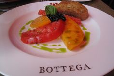 Heirloom tomatoes and caviar at Bottega restaurant, Napa Napa Restaurants, Heirloom Tomatoes, Fine Wine, Napa Valley, Wine Country, Places To Eat, Caviar, California, Spaces