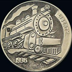 Hobo Nickel Coins for sale Old Coins, Rare Coins, Hobo Nickel, Coin Art, Metal Clay Jewelry, Coins For Sale, Steam Locomotive, Coin Collecting, Sculpture Art
