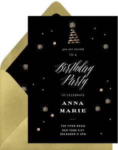 A festive party invitation for any ocassion! Metallic textures add to the magical feel of your joyous occasion. Digital Invitations, Invitation Cards, Party Invitations, I Party, Party Hats, Boy Birthday Parties, Girl Birthday, New York City December, All Kids