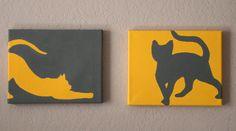 Dream a Little Bigger - Dream a Little Bigger Craft Blog - Catty Art - Feline Silhouette PaintingsTutorial