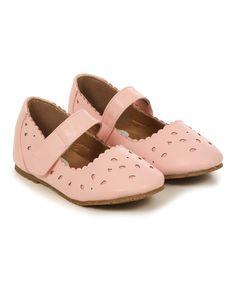 Pink Geometric Cutout Mary Jane - Infant Toddler & Girls
