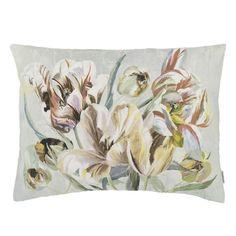 Tulipa Stellata Birch Decorative Pillow design by Designers Guild Designers Guild, Christian Lacroix, Floral Throw Pillows, Decorative Pillows, Missoni, Floral Throws, European Home Decor, Fabric Houses, Burke Decor