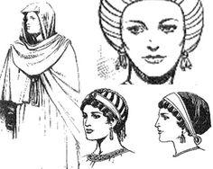 Los tocados se convirtieron en una parte importante de la vestimenta de la corte y la iglesia. Hombres y mujeres usaban tocados y coronas diseñados por orfebres.
