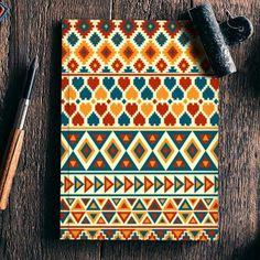 Aztec Pattern Notebook   Artist : Dhruv Narelia