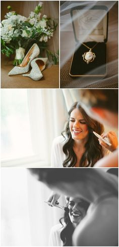 Bride getting ready - wedding day portraits by Ashley West Photography in Columbus Ohio