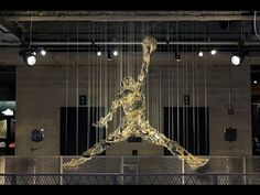Gold Jumpman (Gold plated aluminum) : https://www.youtube.com/watch?v=DkESjWXqko8  This is the new installation at Niketown Chicago created by the american artist MICHAEL MURPHY : http://mmike.com/  #MichaelJordan #AirJordan #Nike #Bulls #ArtJordan