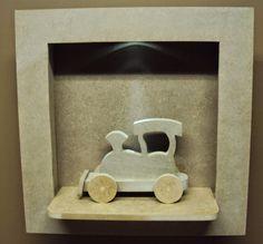 Luartebaby Artesanato: Nicho quarto bebe com led e trem decoração quarto ...