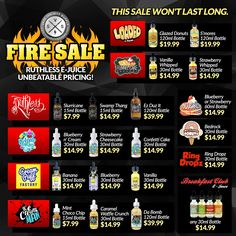 FIRESALE!!! Massive sale on Ruthless E-Juice at UNBEATABLE prices!!! We promise you wont find anything better!!!   https://www.vapesocietysupply.com/collections/ruthless-vapors