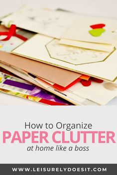 Despite digital technology, do you struggle to get rid of paper clutter in your house? If there are piles everywhere, in the kitchen and office especially, eliminate them with a simple DIY system like a command center and organize important documents like school paperwork with storage solutions e.g. files. Use these organization tips to declutter paper piles in your home. #paper #declutter #organize #organization via @Leisurely Does It Organizing Paperwork, Clutter Organization, Paper Organization, Organizing Life, Office Organization At Work, Office Storage, Work Cubicle, Getting Rid Of Clutter, Paper Clutter