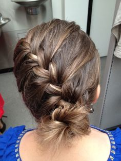 French braid bun,  pretty!