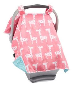 Loving this Paris Pink Giraffe Car Seat Canopy on Pretty Pregnant, Pink Giraffe, Cozy Cover, Seat Covers, Nursery Prints, Travel Accessories, Canopy, Little Ones, Baby Car Seats
