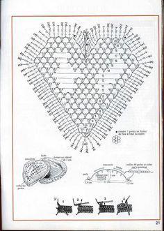 """"""" MOSSITA BELLA PATRONES Y GRÁFICOS CROCHET """": Joyero con forma de corazón a crochet tipo granny!!! Adorable...."""