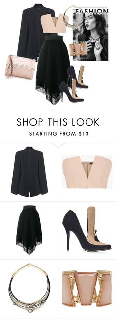 """Untitled #3335"" by emma-oloughlin ❤ liked on Polyvore featuring Miss Selfridge, Chanel, Balmain, Dolce&Gabbana, Alexis Bittar, M&Co and Givenchy"