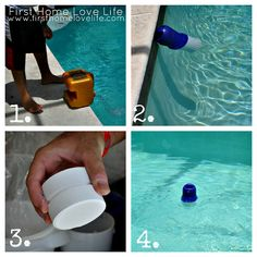 I need a new chlorine tablet holder - this one looks very nifty! How To: Maintain Your Pool - First Home Love Life
