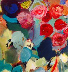 """""""Summer Flowers"""" by Joan élan Davis. 24""""x24"""" giclee $400"""