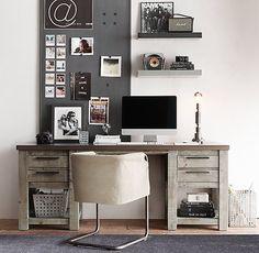 Vaughn Wide Storage Desk . Restoration Hardware Teen .
