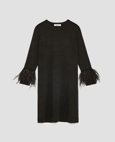 Image 8 of DRESS WITH FEATHERS from Zara