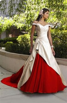 Sweep/ Brush Train Off-the-shoulder Off-the-shoulder #Wedding #Gown Style Code: 05889 $179