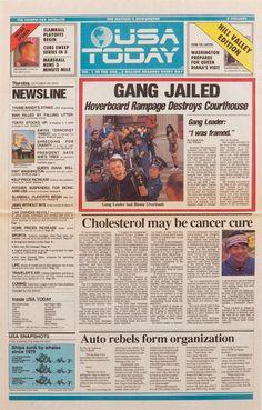 Back to the Future. USA Today : aujourd'hui, le gang de Griff Tannen est arrêté.