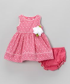 Pink Eyelet Dress & Diaper Cover