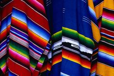 Mexican traditional sarapes, panchos, colorful, comfertables, definitions, brings memories, homy feel