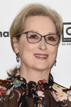 "Meryl Streep wears Beladora Vintage earrings to ""The Post"" photocall in Milan. #celebritystyle #redcarpet #vintage #jewelry #beladora"