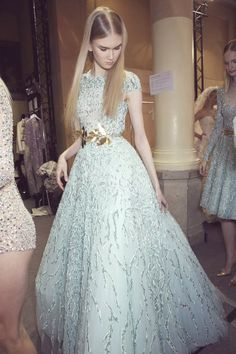 the cinderella project: because every girl deserves a happily ever after: Backstage at Zuhair Murad Spring 2014 Couture
