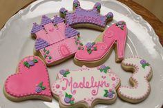 Princess Cookie Suite 2 dozen by AuntieBeasBakery on Etsy, $75.00