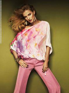 Kasia Szwan for Class By Roberto Cavalli lookbook (Spring-Summer 2012) photo shoot