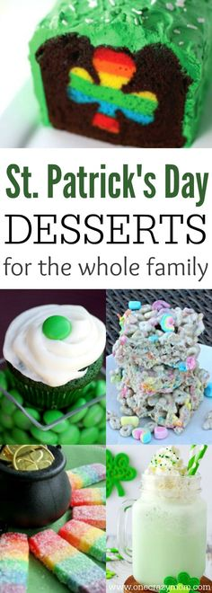 Everyone will love these fun St. Patrick's Day desserts. Find 10 St. Patrick's Day Dessert Ideas here. From cupcakes and cookies to snack mix and milkshakes, there is something for everyone!