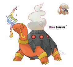 Mega Torkoal by LeafyHeart.deviantart.com on @DeviantArt