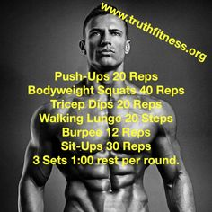 Calisthenics challenge workout!! Full body for men and women. Challenge yourself to do 3 rounds of each exercise.