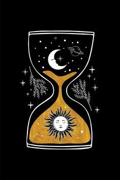 Witch Aesthetic, Aesthetic Art, Aesthetic Iphone Wallpaper, Aesthetic Wallpapers, Spiritual Drawings, Witch Wallpaper, Night Sky Wallpaper, Pretty Wallpapers, Moon Art