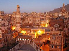 Sana'a (Arabic: صنعاء), the capital of Yemen.