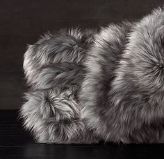 Exotic Faux Fur Oversized Bed Throw - Siberian Grey Fox