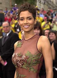 Halle Berry with Boob Flowers is listed (or ranked) 2 on the list The 27 Hottest Halle Berry Photos Ever Taken