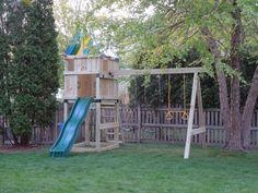 The Khoury Family: Custom DIY Swingset/Clubhouse