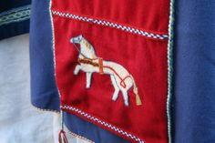 forstykke med brodert hest fra oseberg