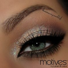 @motivescosmetics Paint Pots shades. Here used the beautiful 'Allure' applied over the Motives Eye Base with a touch of the Glitter Base. On top the Glitter Pot in Diamond. The rest of the shades used are from the#motivesmavens Palette. Eyeliners are the Gel Eyeliner Little Black Dress & Khol Eyeliner in Coffee. Lashes are @Lash Brat in Twilight  Goodnight Luvs   - @theamazingworldofj- #webstagram