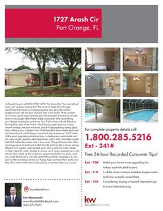 1727 Arash Cir, Port Orange, FL. Your home search stops here because this beautiful 4 bedroom, 2 bath home in the sought after Waters Edge community offers everything you've been looking for and more.  $250,000.  For more information visit us at RonSellsTheBeach.com or call (386) 871-7697.