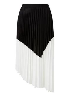 seed   asymmetrical pleat skirt