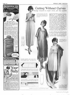 Woman's Home Companion - August 1921.  Simplified sewing for hot weather.
