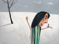 Strach na wróble z dobrym kolegą, 60x80cm, 2012