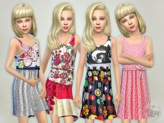Designer Dresses Collection P14 by lillka at TSR via Sims 4 Updates