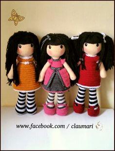 Muñecas crochet ❤ una versión de las muñecas Gorjuss