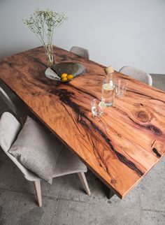 New products and trends in architecture and design Room Of One's Own, New Room, Design Tisch, Shabby, Dining Room, Dining Table, Into The Woods, Wood Design, Wood Table